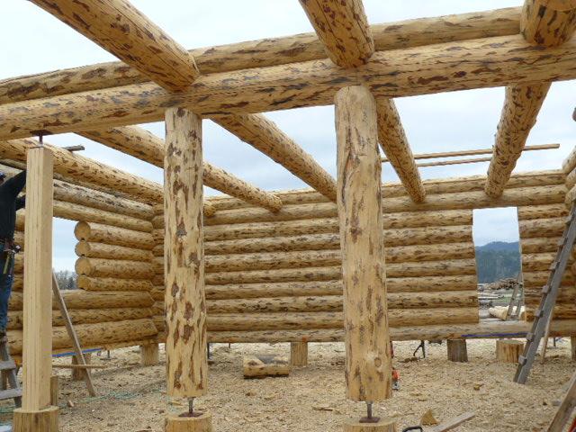Loft logs and stringers