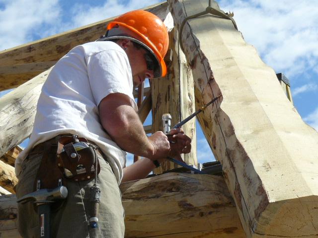 Scribing a bay rafter