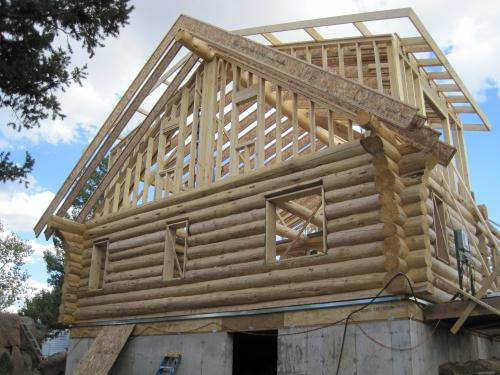 Framing the gables and roof