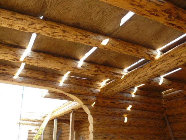 Loft logs above kitchen
