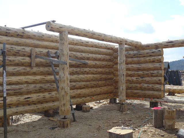 Tie log to support loft