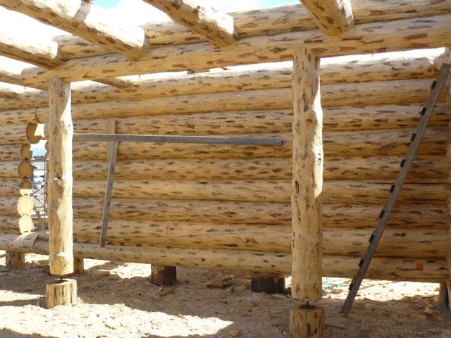 Loft logs in place