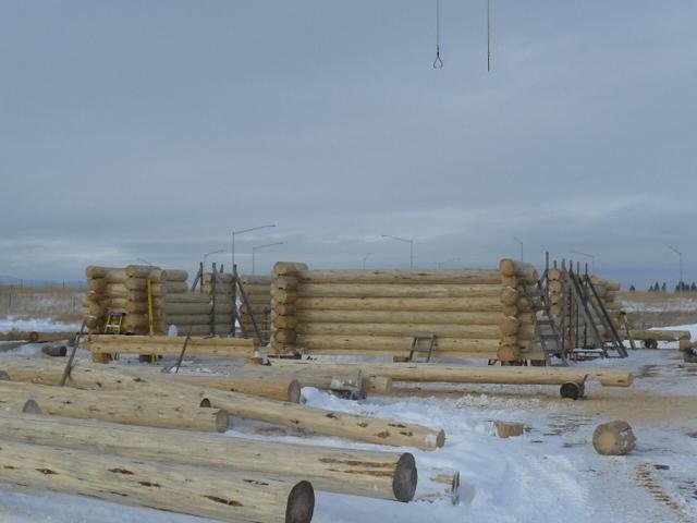 Log walls to 6'