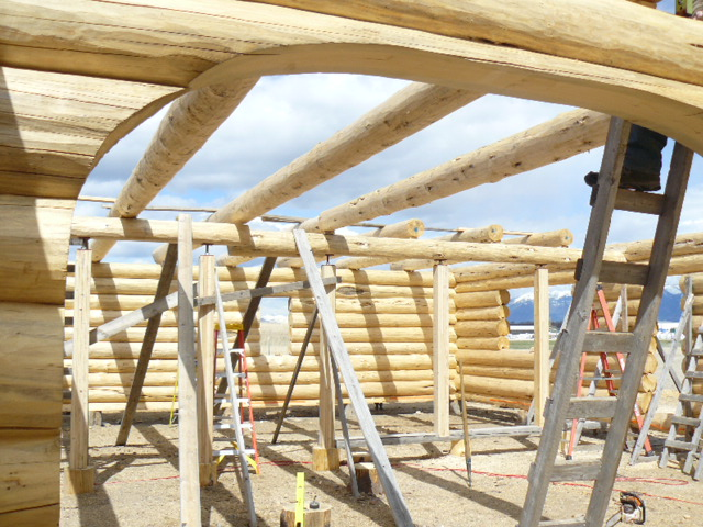 Loft logs going in