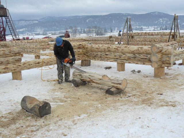 Erik sawing