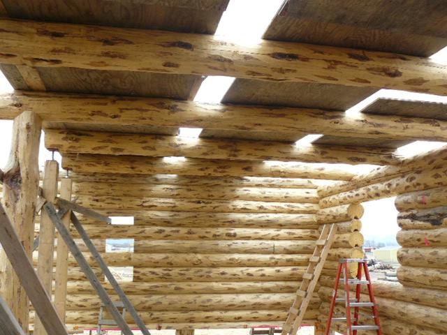 Loft logs in place!