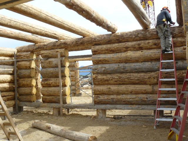Scribing loft logs