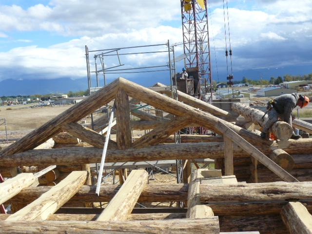 Interior log truss