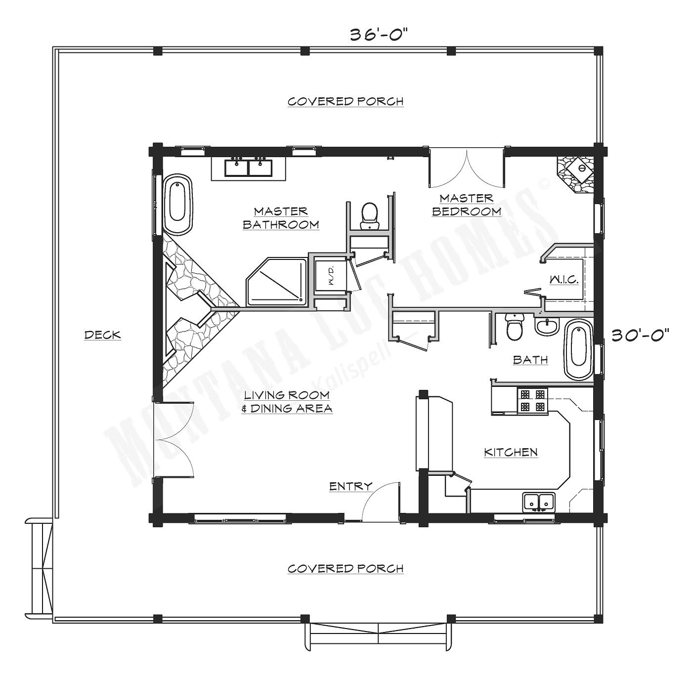 Montana Log Homes Floor Plans Mlh 015 Montana Log Homes